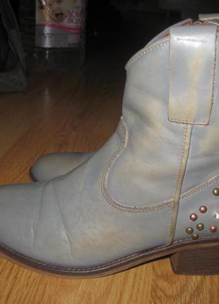 Шкіряні черевики roberto santi  36 розміру