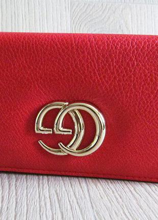 Красный кошелек эко кожа