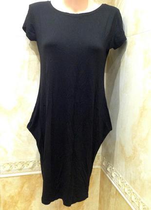 Базовое черное платье трикотаж