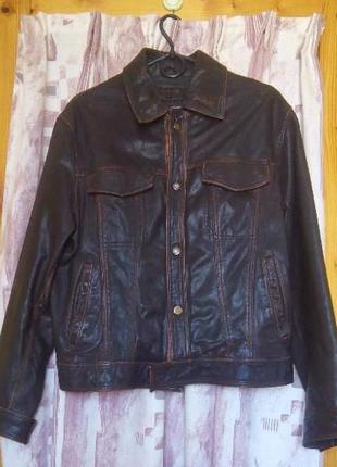 Кожаная куртка yukali, мужская куртка демисезон, весенняя мужская куртка