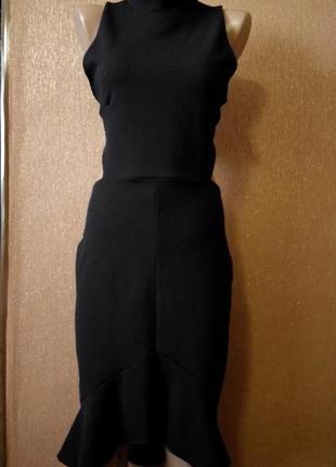 Платье экстравагантное топ по спине размер 12-14  boohoo2