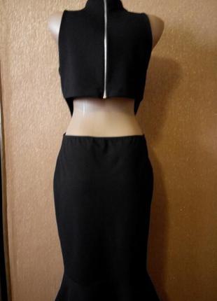 Платье экстравагантное топ по спине размер 12-14  boohoo4