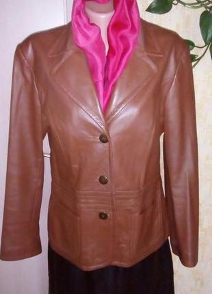 Отличная куртка 100 % мягенькая кожа /пиджак /кожаная куртка/куртка