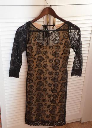Шикарное ажурное платье с открытой спинкой