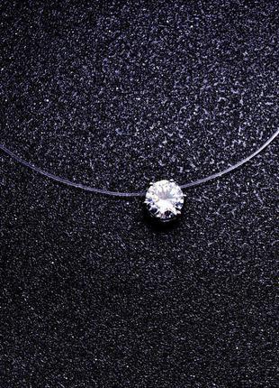 Камушек на леске колье ожерелье