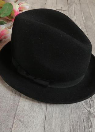 Стильная шляпа 100% шерсть / капелюх