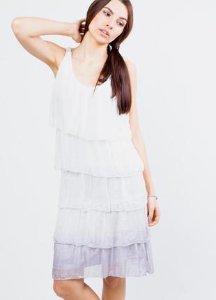 Короткое шелковое платье  s-m