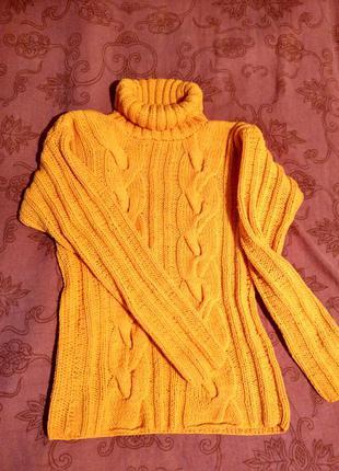 Теплый вязанный свитер, кофта, гольф