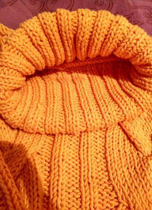 Теплый вязанный свитер, кофта, гольф, свитер3 фото