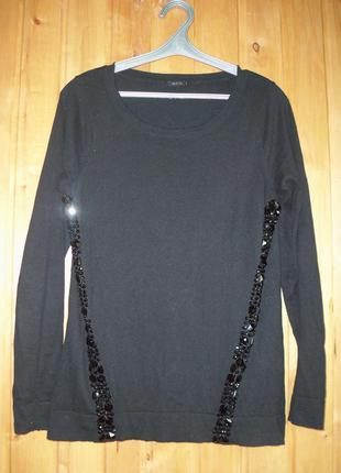 Джемпер угольно-черного цвета