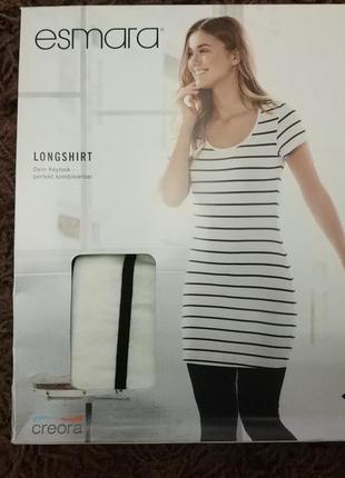 Полосатое платье футболка туника esmara германия