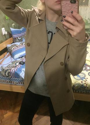 Пальто guess бежевый тренч