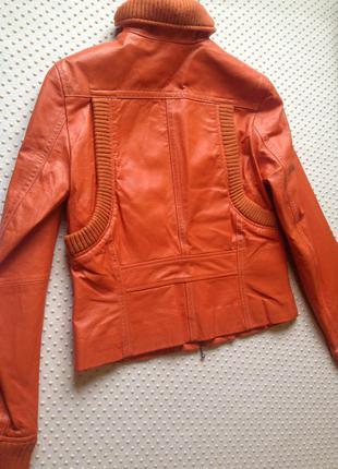 Best connections/германия/кожаная куртка цвета танжерина/-50%