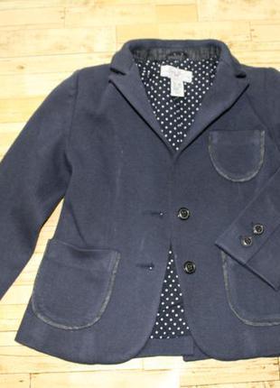 Фирменный пиджак для девочки zara, рост 118 см