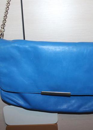 Шкіряна сумка клатч zara