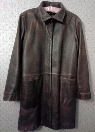Кожаное пальто , dkny , оригинал