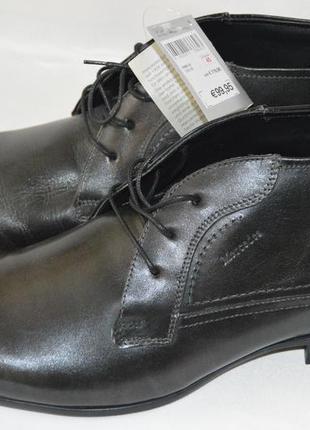 Tуфли кожаные mercedes немецкие размер 45 46