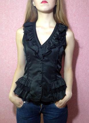 Кружевная блузка - безрукавка