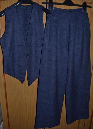 Тёплый  костюм - двойка из натуральной шерсти hand made