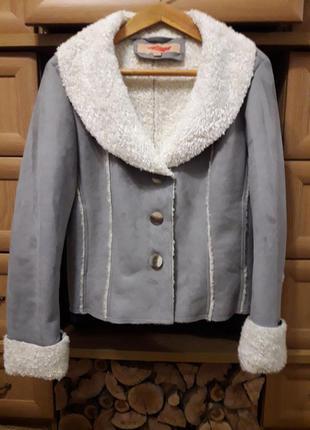 Дубленка пиджак куртка демисезонная весенняя осенняя жакет