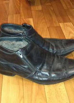 Кожа.ботинки зимние.(натур.мех)