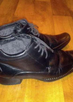 Кожа.полупотиночки,ботинки,туфли.теплые мужские