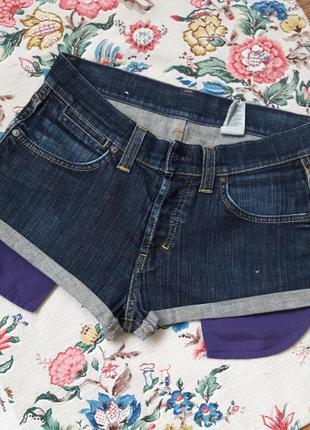 Джинсовые шорты с большими карманами1