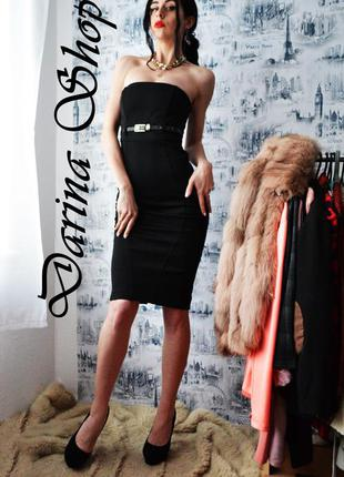 Платье черное по фигуре , платье футляр миди