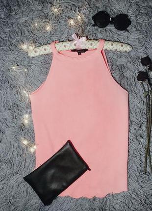 Розовый топ с чокером и интересным низом от new look