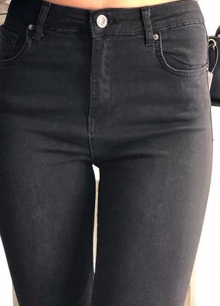 Чёрный джинсы скини