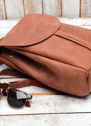 Кожа. ручная работа. кожаный рюкзак, рюкзачок