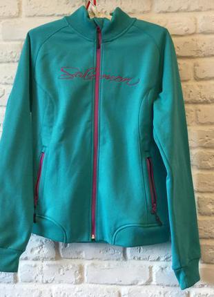 Спортивная теплая куртка на флисе salomon