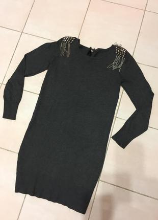 Платье прямое трикотажное