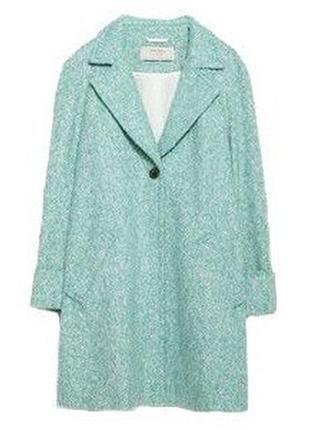 Шикарное мятное пальто zara