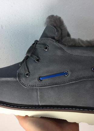 Мужские натуральные ботинки угги ugg david beckham lace grey 41,42,43,45