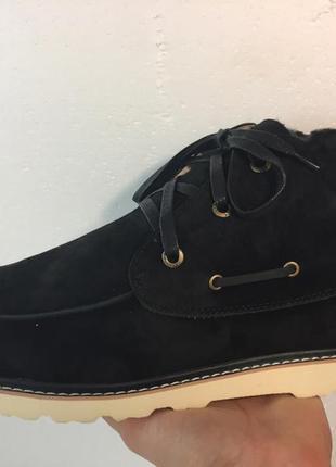 Мужские натуральные ботинки угги ugg david beckham lace black
