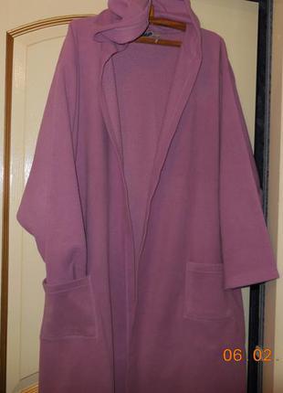 Красивый сиреневый халат. флисовый.