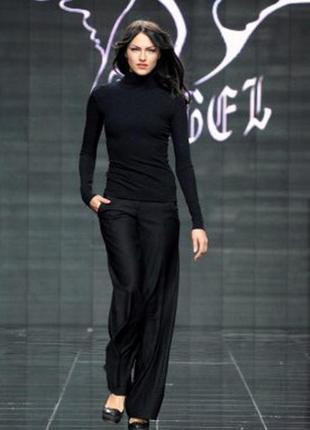 Шикарные широкие брюки с красивым поясом