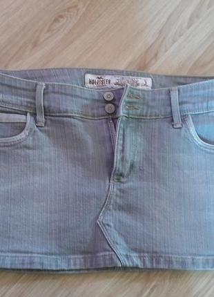 Юбка джинсовая hollister,мини