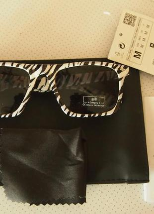 Солнцезащитные очки zara man зебра  унисекс