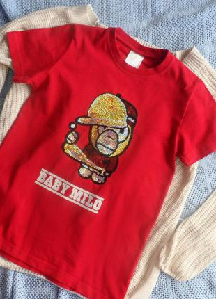 Яркая футболка baby milo 🌸акция!!!!все по 30 гривен🌸