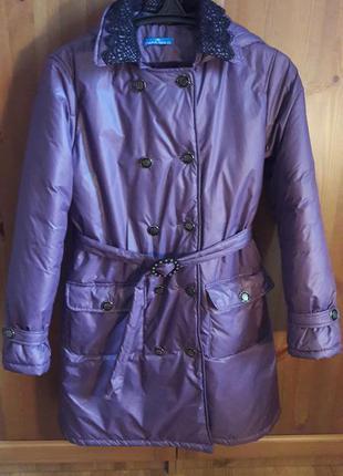 Фиолетовое пальто осень-весна