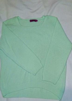 Свитер нежно-зеленого мятного цвета