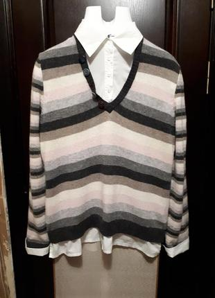 100% шерстяная блузка джемпер next