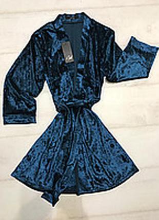 💣женский домашний  халат.  из мраморного велюра размер 42-46