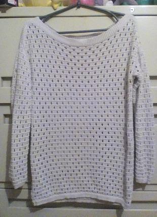 Ажурный свитер xs-s