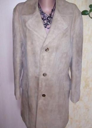 Шикарное 100 % кожаное пальто/пальто/тренч/плащ/кожаное пальто