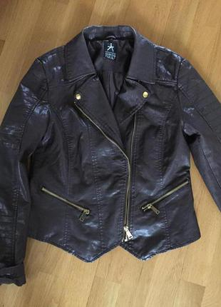 Кожаная куртка косуха atmosphere