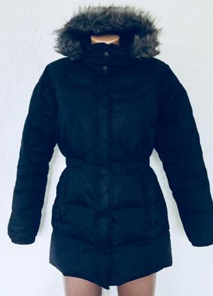 Куртка пуховик дутый лебяжий пух reebok, xs-s