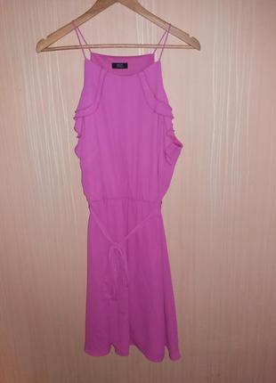Шикарное платье миди 54 размера c пояском
